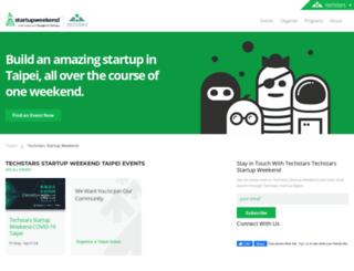 taipei.startupweekend.org screenshot