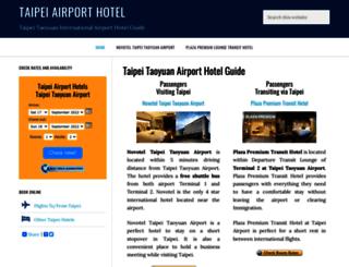 taipeiairporthotel.com screenshot