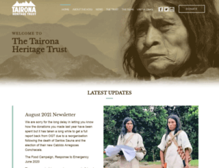 taironatrust.org screenshot