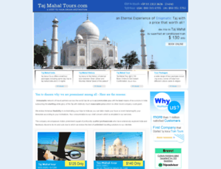 tajmahaltours.com screenshot