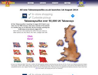 takeawaysulike.co.uk screenshot
