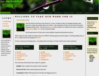 takeourword.com screenshot