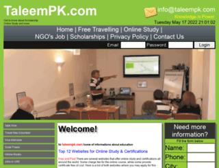 taleempk.com screenshot