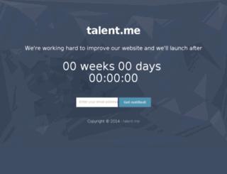 talent.me screenshot