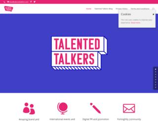 talentedtalkers.com screenshot