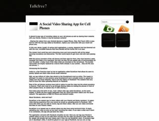 talkfree7.blogspot.com screenshot