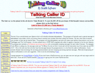 talkingcallerid.com screenshot