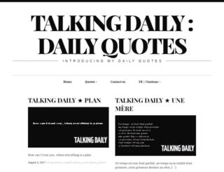 talkingdaily.info screenshot