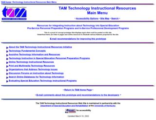 tam.uky.edu screenshot
