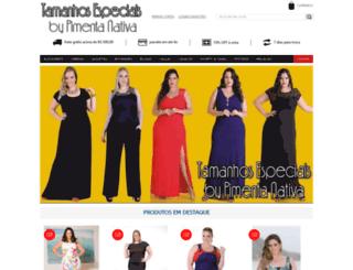 tamanhosespeciais.com.br screenshot