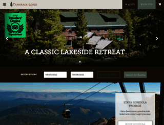 tamaracklodge.com screenshot