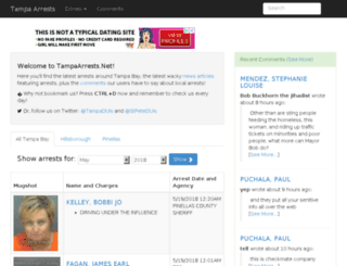 tampaarrests.net screenshot
