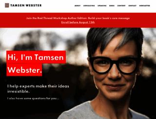 tamsenwebster.com screenshot