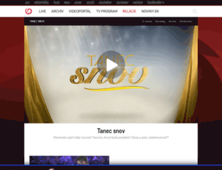 tanec.joj.sk screenshot
