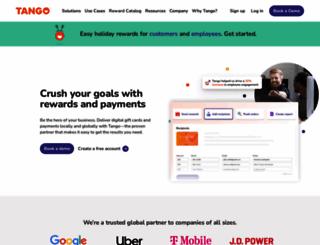 tangocard.com screenshot
