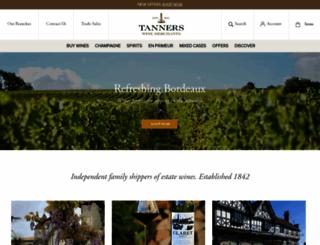 tanners-wines.co.uk screenshot