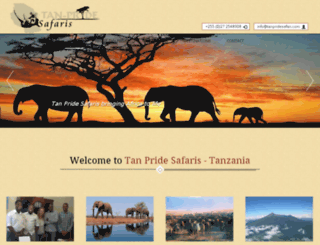tanpridesafaris.com screenshot