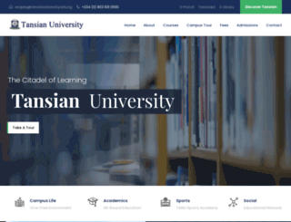 tansianuniversity.edu.ng screenshot