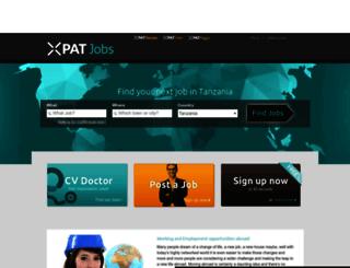 tanzania.xpatjobs.com screenshot