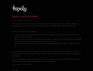 tapely.com screenshot