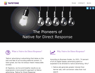 tapstone.com screenshot