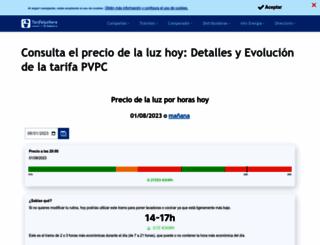 tarifaluzhora.es screenshot