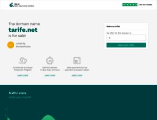 tarife.net screenshot