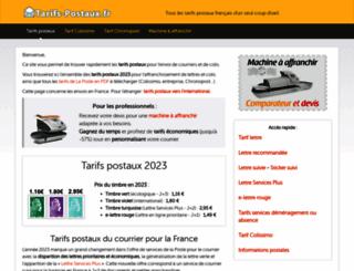 tarifs-postaux.fr screenshot