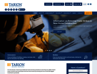 tarion.com screenshot