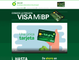 tarjetabp.es screenshot