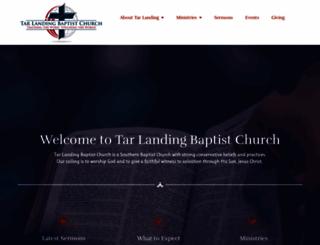 tarlandingbaptist.org screenshot