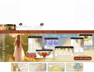 tarotgoddess.com screenshot