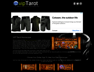 tarothoroscope.viptarot.com screenshot