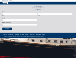 tartanyachts.com screenshot