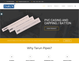 tarunpipes.com screenshot