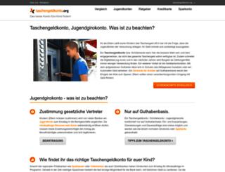 taschengeldkonto.org screenshot