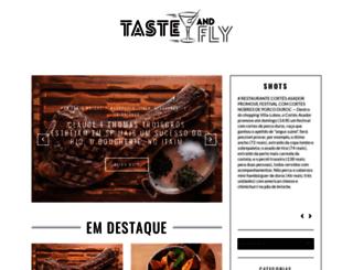 tasteandfly.com.br screenshot