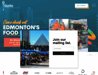 tasteofedm.ca screenshot