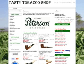 tastytobaccoshop.com screenshot