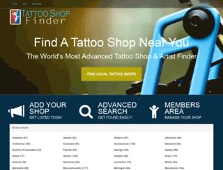 tattooshopfinder.com screenshot