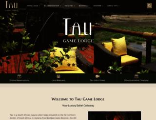 taugamelodge.co.za screenshot