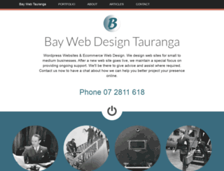 taurangawebdesign.co.nz screenshot