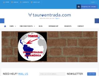 tauroentrada.es screenshot