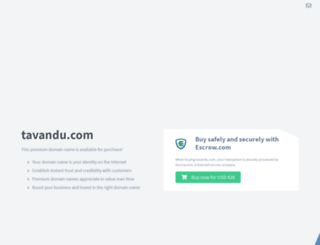 tavandu.com screenshot