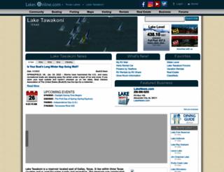 tawakoni.uslakes.info screenshot