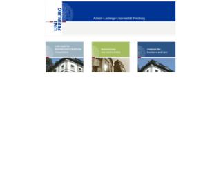 tax.uni-freiburg.de screenshot