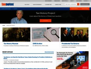 taxhistory.org screenshot