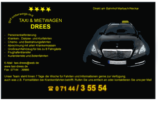 taxi-drees.de screenshot
