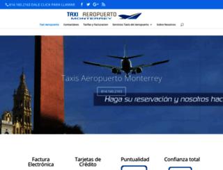 taxiaeropuertomonterrey.com screenshot