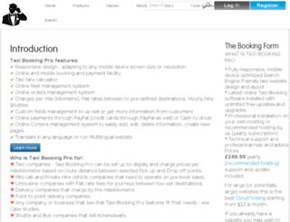 taxibookingpro.com screenshot